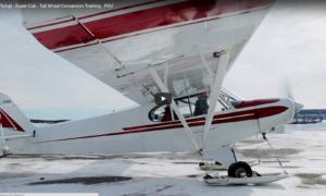1st-time-ski-flying-super-cub-tail-wheel-conversion-training-pov