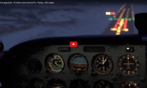 ifr-training-ils-approach-51-knot-cross-wind-at-fix-flying-atc-audio