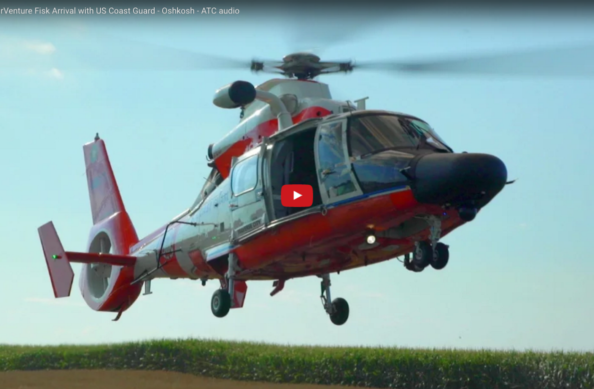 World's Busiest Airspace – AirVenture Fisk Arrival with US Coast Guard – Oshkosh – ATC audio
