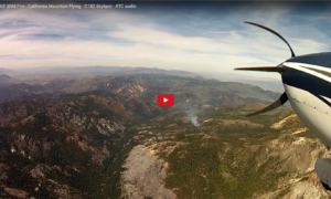 birth-of-a-huge-wild-fire-california-mountain-flying-c182-skylane-atc-audio