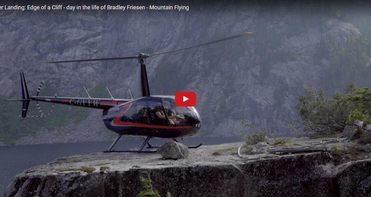 Helicopter Landing: Edge of a Cliff – day in the life of Bradley Friesen – Mountain Flying